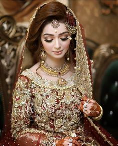 Bride like a doll Asian Bridal Dresses, Latest Bridal Dresses, Bridal Mehndi Dresses, Pakistani Wedding Outfits, Pakistani Wedding Dresses, Bridal Outfits, Pakistani Bridal Hairstyles, Pakistani Bridal Makeup, Bridal Lehenga
