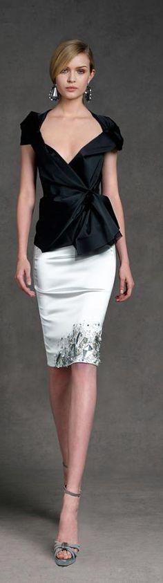 Donna Karan ~ Resort 2013 - black and white