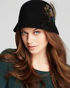 Tail Feather Melton Cloche   Bloomingdale's