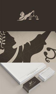 Brand identity design for brazilian law company Bruno Cabral Advogado.  Walter Mattos