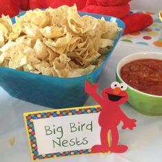 Sesame Street Party Food: Big Bird Nests - Scoop Chips and Salsa!
