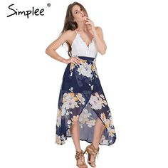 Simplee Sexy High Waist Lace Summer Dress  #man #dress #women #redbeancollection #fashion