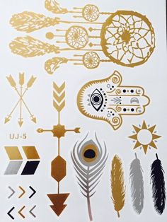 Flash Tattoo Gold & Silver Metallic - by PaEl