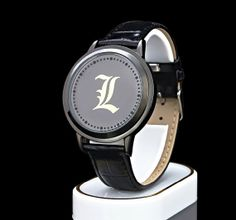 Death Note L LED Waterproof PU Leather Watch, Deathnote