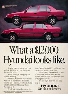 1988 Hyundai Excel GLS - I had this when I went to Hyles-Anderson College