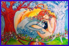 "soulmates-twinflames: "" Love is fuel for the soul. ~Molly Friedenfeld www.twinflames-soulmates.com Art: Sara Stradi """