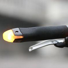 70 CHF BlinkerGrips - Fahrradgriffe mit eingebauten Blinkern | Blitzlieferung