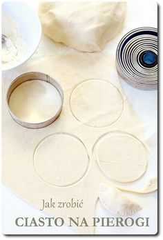 How to make a dumpling dough Dumpling Dough, Polish Recipes, Polish Food, Pierogi, Xmas Food, Vegan Vegetarian, Vegan Recipes, Xmas Recipes, Veggies
