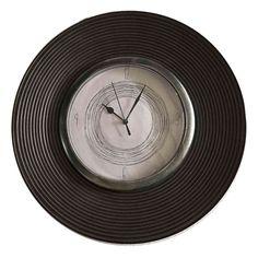 Grey Simplicity Domed Wall Clock