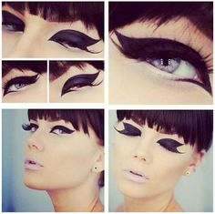 Reminds me of pin up make up