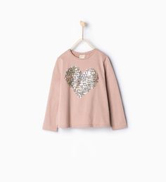 Image 1 of Sequinned heart top from Zara