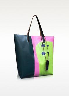Shopper in PVC Camellia Stampa Jack Davidson - Marni