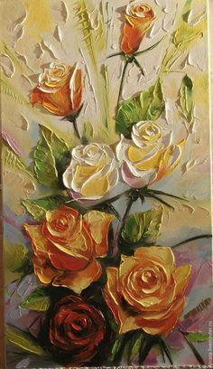 Картины цветов ручной работы. Ярмарка Мастеров - ручная работа. Купить розовый букет. Handmade. Комбинированный, картина в подарок