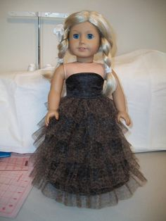 Strapless Gown for the American Girl Doll or Other 18 by love2sew, $20.00