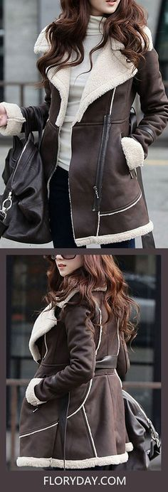 Leather & Faux are always perfect match when it comes to cold days, for warmth and for style.  Do not miss any chance to possess such fabulous coats/Jackets