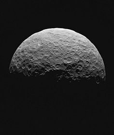 NASA's Dawn spacecraft captured this image of northern Ceres on April 14-15, 2015,  about 14,000 miles (22,500 kilometers) above the dwarf planet's north pole: NASA/JPL-Caltech/ UCLA/MPS/DLR/IDA