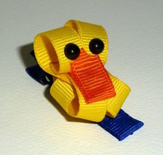 Cute Baby Duck Ribbon Sculpture Clippie by wrappedinstyle9802, $5.00
