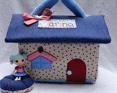Mini Lalaloopsy Fabric Dollhouse-Rosy Bumps 'N' Bruises inspired for mini lalaloopsy dolls // Made To Order. $34.00, via Etsy.