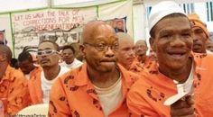 Image du Jour : L'ancien Président Sud-Africain Jacob Zuma en prison et en uniforme