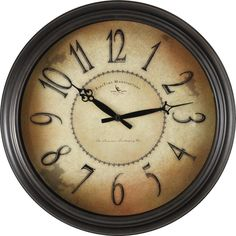 18 in. Round Taylor Road Wall Clock, Bronze