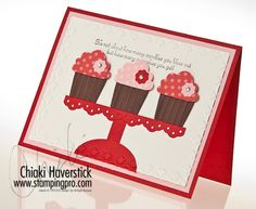 Cute card to make with the new cupcake punch!