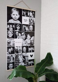 Gaaf idee! Een Instawall poster. Canvas Wall Collage, Family Tree Wall, Birthday Photo Collage, Birthday Photos, Photography Collage, Pinterest Photos, House Layouts, Photo Canvas, Toy Rooms