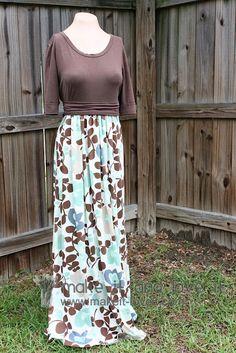 One fall maxi dress Dress Out, Diy Dress, Shirt Dress, Diy Clothing, Sewing Clothes, Refashioning Clothes, Altering Clothes, New Long Dress, Ruffle Fabric