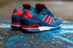 adidas Originals ZX 750 – Collegiate Navy / Red – White