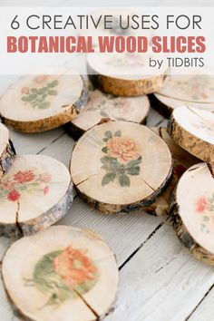 Creative uses for botanical wood slices featured on Ella Claire