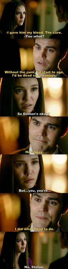 The Vampire Diaries TVD S08E16/Season finale - Elena and Stefan
