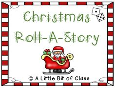 Christmas Roll-A-Story Roll A Story, Second Grade, Middle School, How To Become, Rolls, Teacher, Templates, Activities, Christmas