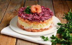 Salad cake al salmone