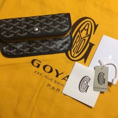 Goyard Wallet SALE PRICE LIMITED TIME Brand new! Never used. This purchase includes the pouch/wallet only (with felt insert) will include Goyard shopping bag, tissue and tag for a limited time!  Does not include hard copy of receipt (just shown to prove authenticity) or dust bag  Can be used as wallet, has snap closure and pocket on back! Goyard Bags Wallets
