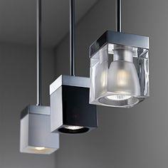 Fabbian Cubetto One Light Pendant Lamp - Chrome/Clear Pendant Lighting, Light Pendant, Pendant Lamps, Candle Lanterns, One Light, Interior Lighting, Lamp Light, Modern Design, Chrome