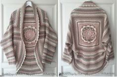 Crochet Jacket with Japanese Flowers Free Pattern
