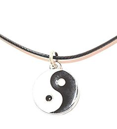 Ying-Yang Anhänger mit Lederkette Dreambase Trends, Personalized Items, Winter, Jewelry, Chains, Birthday, Xmas, Gifts, Jewlery
