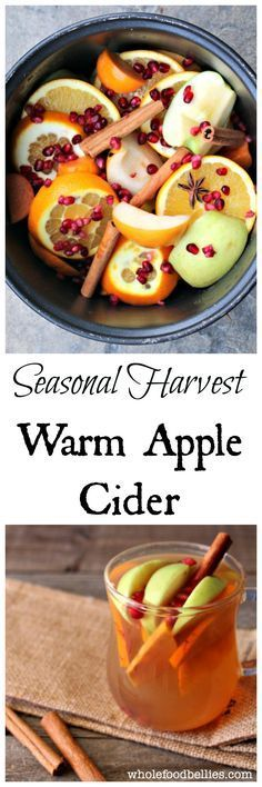 Fall Harvest Hot Apple Cider. Pop all the beautiful, fresh fruit from the farmers market into the crockpot, and warm up with this delicious warm cider. Perfect for chilly nights