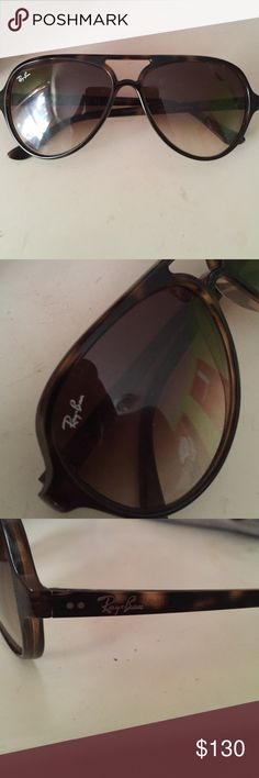 Sun glasses Cats 5000 classics ray bans! Aviator look & style. In good condition still, do not have the case for them anymore! Ray-Ban Accessories Glasses