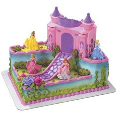 Food & Entertaining - Publix or tArget Bakery Selections - Decorated Cakes - Princess - Disney Princess Castle Signature Cake (i know how to make this lol)