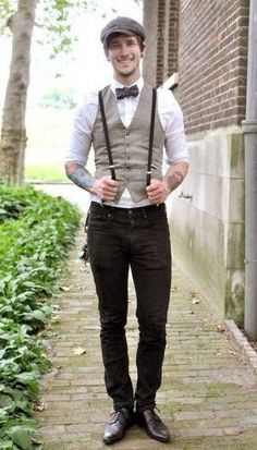 If you are preparing for a vintage-themed wedding,we've gathered for you some cool groom attire ideas. A vintage groom outfit is a must for such wedding. Groom Outfit, Groom Attire, Wedding Men, Wedding Suits, Wedding Vintage, Trendy Wedding, Wedding Groom, Vintage Weddings, Wedding Blog