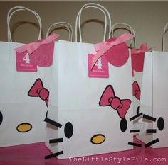 Diy Hello Kitty Gift Bags And Cards