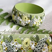 "Handmade Jewelry. Fair Masters - handmade bracelet ""April meadow"" Flower of polymer clay. Handmade."