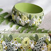 "Handmade Jewelry. Fair Masters - handmade bracelet ""April meadow"" Flower of polymer clay. Handmade."