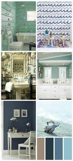 Arredare una cucina al mare - Azzurro pastello | Küchenschränke und ...