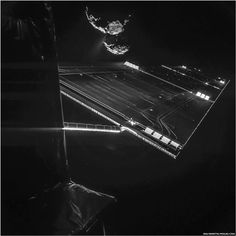 The Philae robot, soon to try to land on Comet 67P, has taken another dramatic image of its quarry.