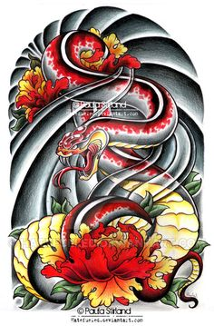 Asian Snake Peonies by hatefueled on DeviantArt