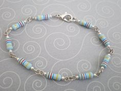 Sky blue resistor bracelet by FlifGeekery on Etsy, $8.50
