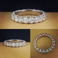 """Custom eternity ring with diamonds micro embedded perpendicular to the ring. #eternityband #eternityband #ring #diamond #diamondband #toronto"" Photo taken by @diamonddzines on Instagram, pinned via the InstaPin iOS App! http://www.instapinapp.com (01/04/2016)"