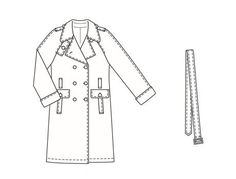 Burdastyle 01-2006-101 Trench Coat pattern
