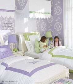 bedroom form Pottery barn, girls already ave pb bedding and white bedroom furniture..